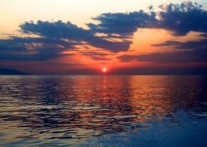Sunset off Stromboli