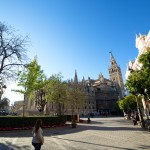 Triunfo Plaza with the Seville Cathedral