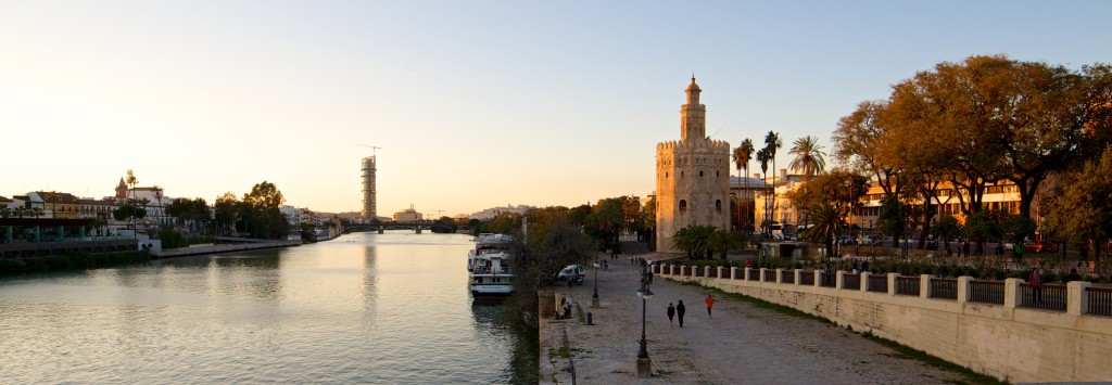 Seville Waterfront, with the Torre del Orro